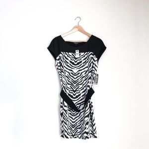 NWT Epress zebra patterned dress
